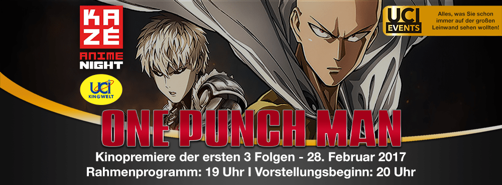 KAZÉ Anime Night: One Punch Man - UCI Kinowelt: Colosseum 1