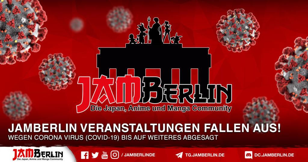 Corona Virus - JAMBerlin Veranstaltungen Abgesagt 1